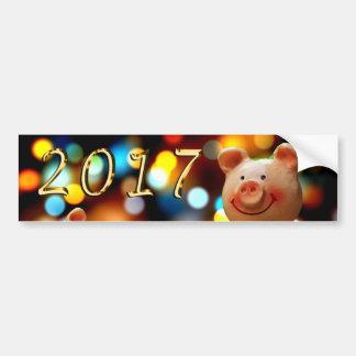 Adesivo De Para-choque Etiqueta 2017 do feliz ano novo