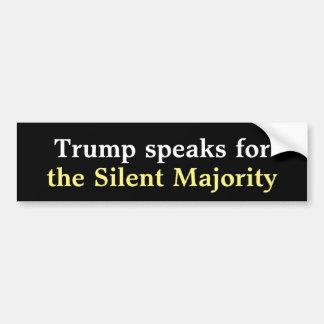 Adesivo De Para-choque Etiqueta abundante de maioria silenciosa do trunfo