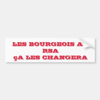Adesivo De Para-choque etiqueta burguês ao RSA