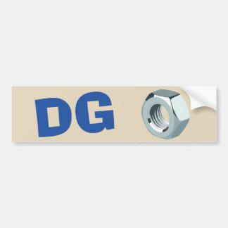 Adesivo De Para-choque Etiqueta da porca do DG