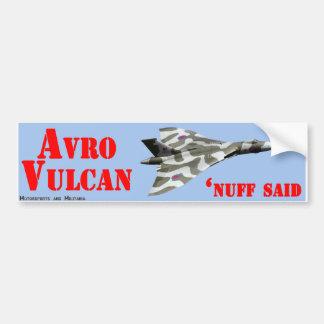 Adesivo De Para-choque Etiqueta de Avro Vulcan