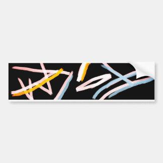 Adesivo De Para-choque Etiqueta de forma livre de Bumber da arte