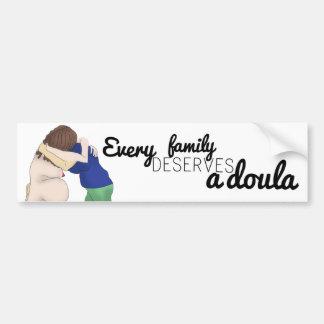 Adesivo De Para-choque Etiqueta do carro - cada família merece um doula