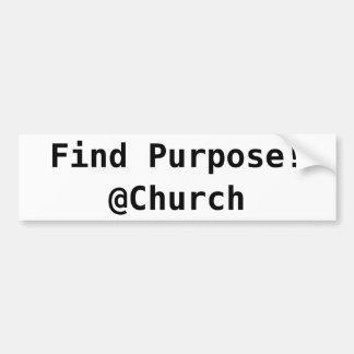 Adesivo De Para-choque Etiqueta do @Church da finalidade do achado