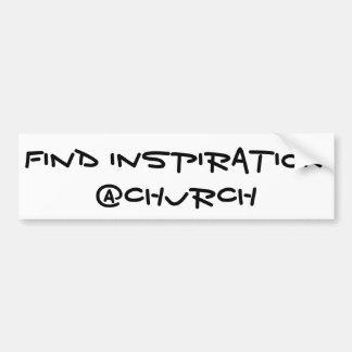 Adesivo De Para-choque Etiqueta do @Church da inspiração do achado