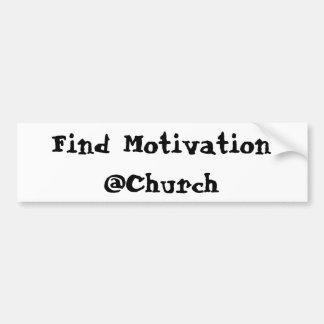 Adesivo De Para-choque Etiqueta do @Church da motivação do achado
