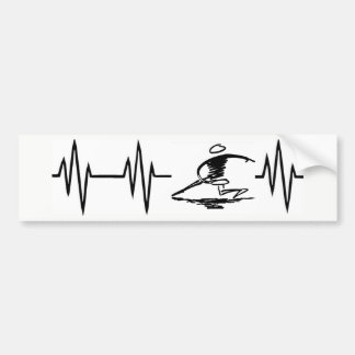 Adesivo De Para-choque Etiqueta do golfe do disco da pulsação do coração