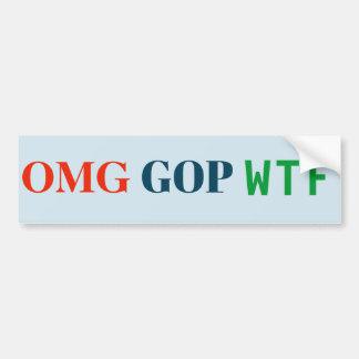Adesivo De Para-choque Etiqueta do GOP WTF de OMG