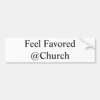 Adesivo De Para-choque Etiqueta favorecida sensação do @Church