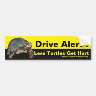 Adesivo De Para-choque Etiqueta feliz do carro da tartaruga