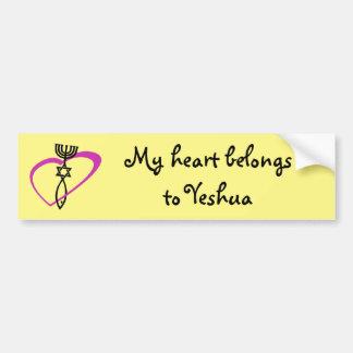 Adesivo De Para-choque Etiqueta messiânica do coração