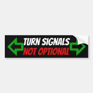 Adesivo De Para-choque Etiqueta nao opcional dos sinais de volta com