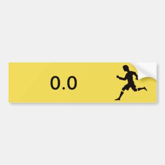 Adesivo De Para-choque Etiqueta para os não-corredores