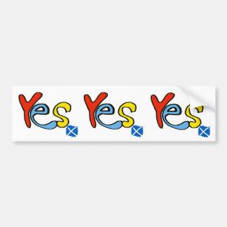 Adesivo De Para-choque Etiqueta sim sim sim escocesa da bandeira da
