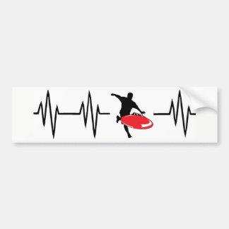 Adesivo De Para-choque Etiqueta vermelha do golfe do disco da pulsação do