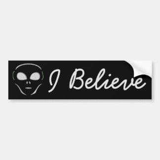Adesivo De Para-choque Eu acredito, autocolante no vidro traseiro do UFO