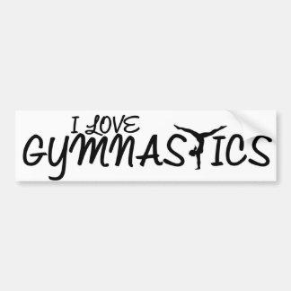 Adesivo De Para-choque Eu amo a ginástica