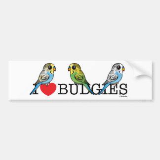 Adesivo De Para-choque Eu amo Budgies