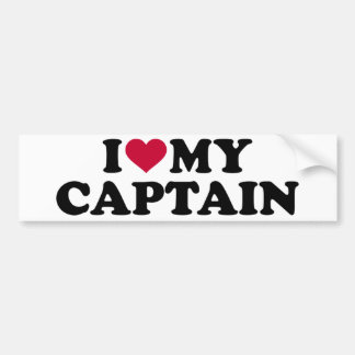 Adesivo De Para-choque Eu amo meu capitão