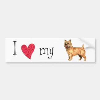 Adesivo De Para-choque Eu amo meu monte de pedras Terrier