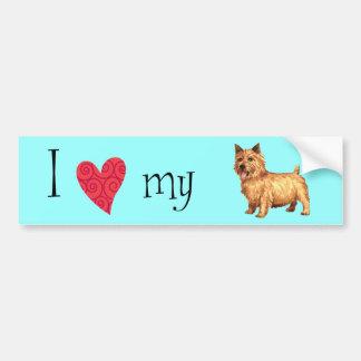 Adesivo De Para-choque Eu amo meu Norwich Terrier