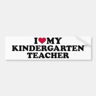 Adesivo De Para-choque Eu amo meu professor de jardim de infância
