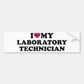 Adesivo De Para-choque Eu amo meu técnico de laboratório