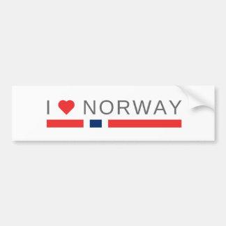 Adesivo De Para-choque Eu amo Noruega
