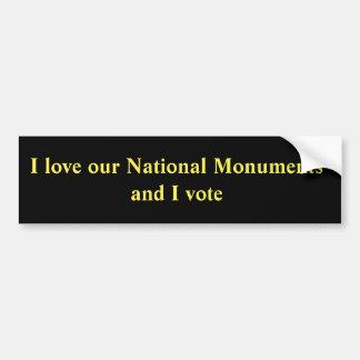 Adesivo De Para-choque Eu amo nossos monumentos nacionais e eu voto