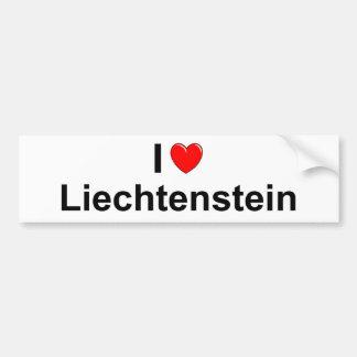 Adesivo De Para-choque Eu amo o coração Liechtenstein