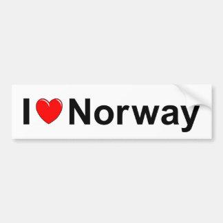 Adesivo De Para-choque Eu amo o coração Noruega