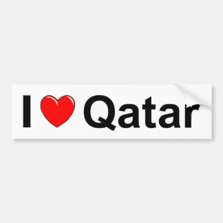 Adesivo De Para-choque Eu amo o coração Qatar