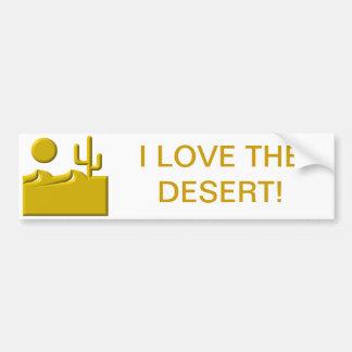 Adesivo De Para-choque Eu amo o deserto