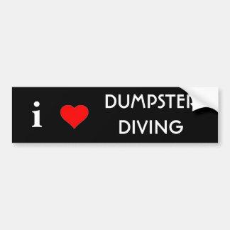Adesivo De Para-choque Eu amo o mergulho do contentor