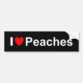 Adesivo De Para-choque Eu amo pêssegos do coração