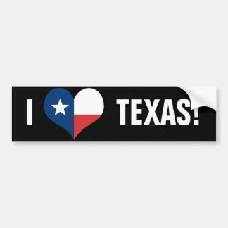 Adesivo De Para-choque Eu amo Texas
