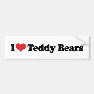 Adesivo De Para-choque Eu amo ursos de ursinho do coração - coletor do