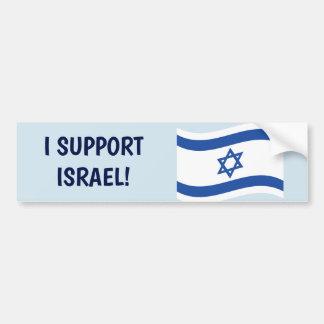 ADESIVO DE PARA-CHOQUE EU APOIO ISRAEL!