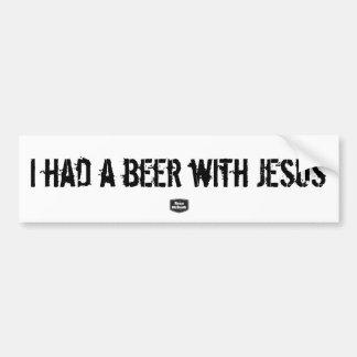 Adesivo De Para-choque Eu comi uma cerveja com autocolante no vidro