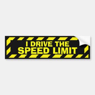 Adesivo De Para-choque Eu conduzo a etiqueta do cuidado do amarelo do