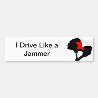 Adesivo De Para-choque Eu conduzo como um autocolante no vidro traseiro