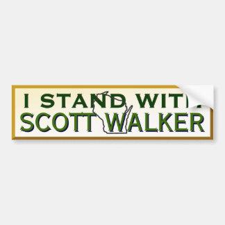 Adesivo De Para-choque Eu estou com o caminhante de Scott do governador