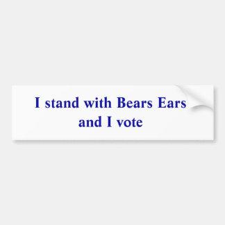 Adesivo De Para-choque Eu estou com orelhas dos ursos e eu voto