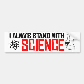 Adesivo De Para-choque Eu estou sempre com ciência - rua do pára-choque