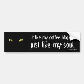 Adesivo De Para-choque Eu gosto de meu preto do café…