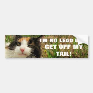 Adesivo De Para-choque Eu não sou nenhum gato Meme do cão da ligação