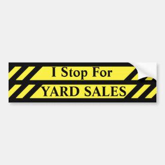 Adesivo De Para-choque Eu paro para vendas de jardim