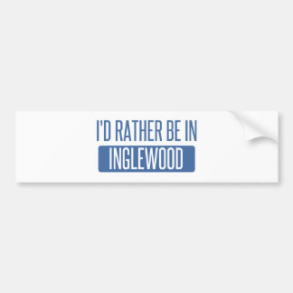 Adesivo De Para-choque Eu preferencialmente estaria em Inglewood