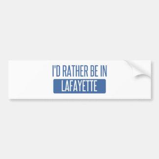 Adesivo De Para-choque Eu preferencialmente estaria em Lafayette DENTRO