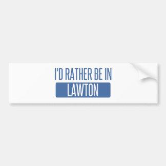 Adesivo De Para-choque Eu preferencialmente estaria em Lawton